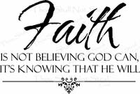Faith is Believing Christian Wall Quotes
