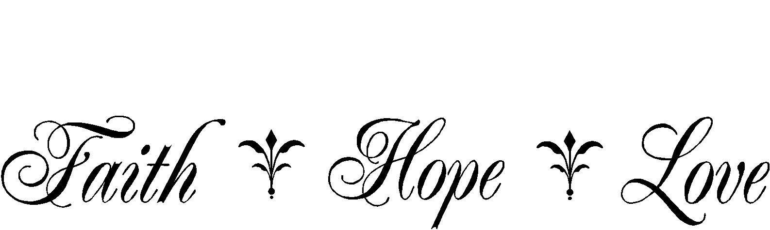 Religious Quotes Vinyl Wall Decals Faith Hope Love