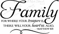 Family Treasure Christian Wall Quotes