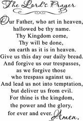 The Lord's Prayer Christian Wall Quotes