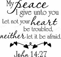 My Peace I Give Unto You Christian Wall Quotes