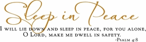 Sleep In Peace Christian Wall Quotes