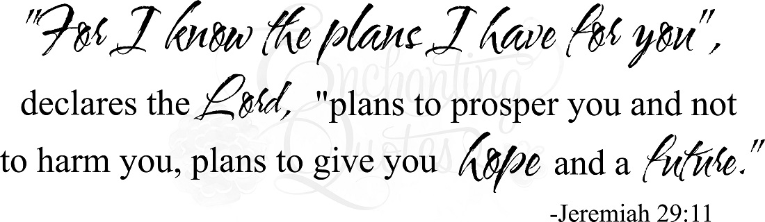 Religious Wall Quotes Vinyl Wall Decals For I Know The Plans