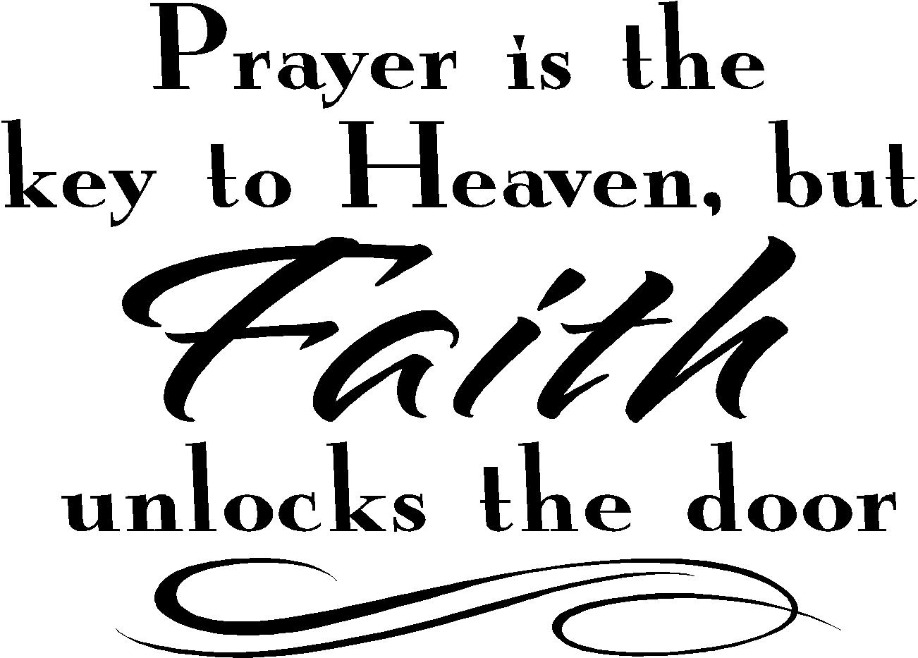Religious Quotes About Faith Custom Religious Wall Quotes  Vinyl Wall Decals  Prayer Is The Key