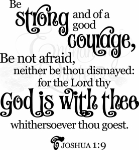 Be Strong and of Good Courage Christian Wall Decals