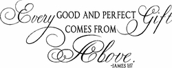 Every Good and Perfect Gift Christian Wall Decals