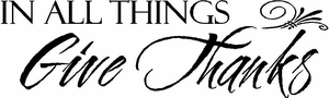 In All Things Give Thanks Christian Wall Quotes