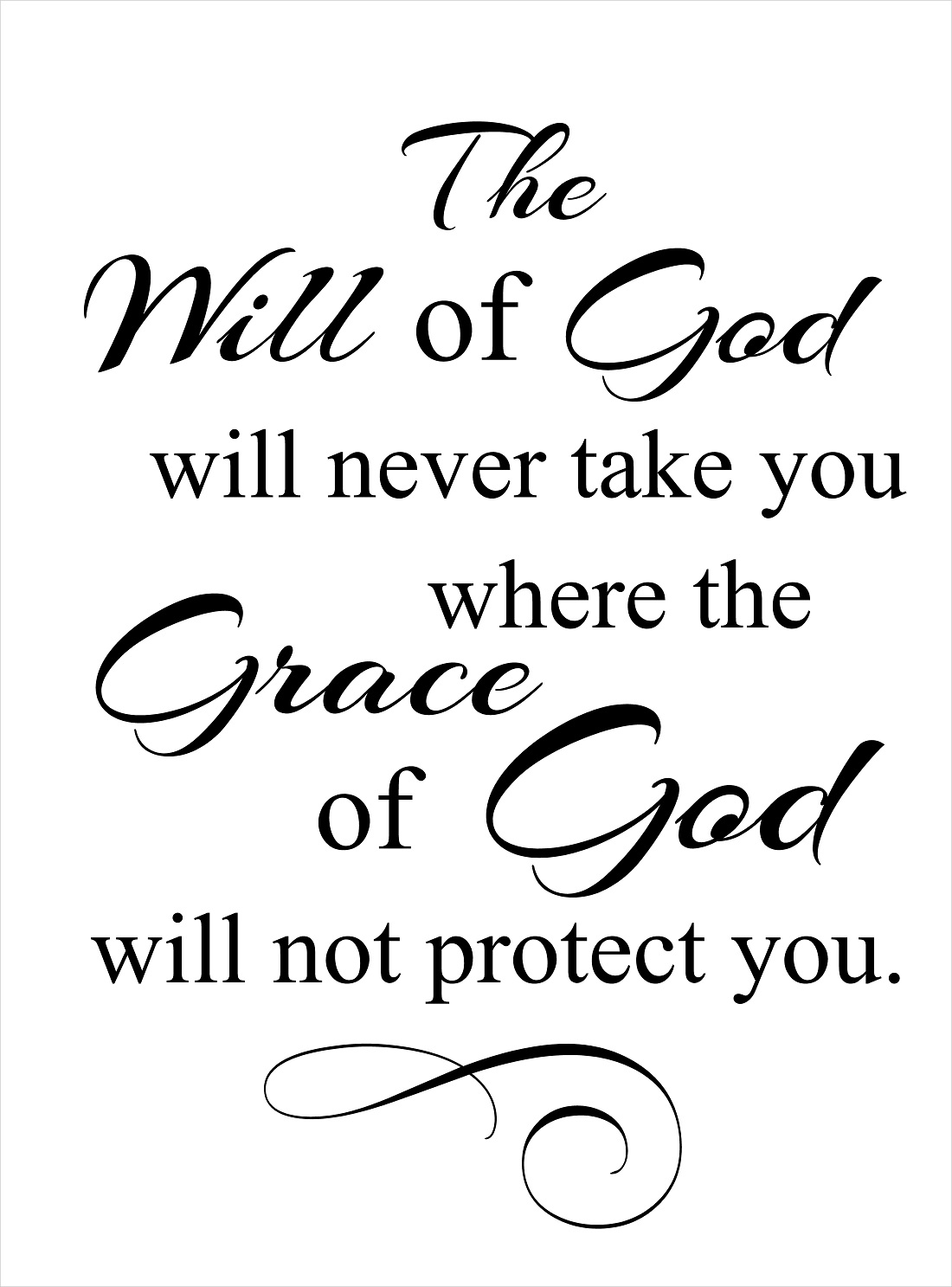 God's Grace Quotes Adorable Religious Quotes  Vinyl Wall Decals  The Will Of God