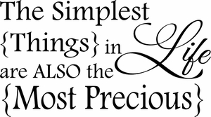 Simplest Things Vinyl Wall Decals