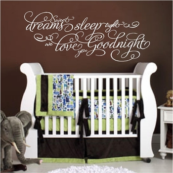 Sweet Dreams We Love You Nursery Wall Quote