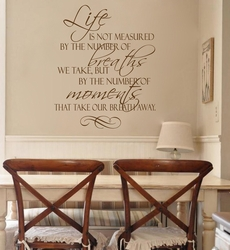 Breath Away Vinyl Wall Decal