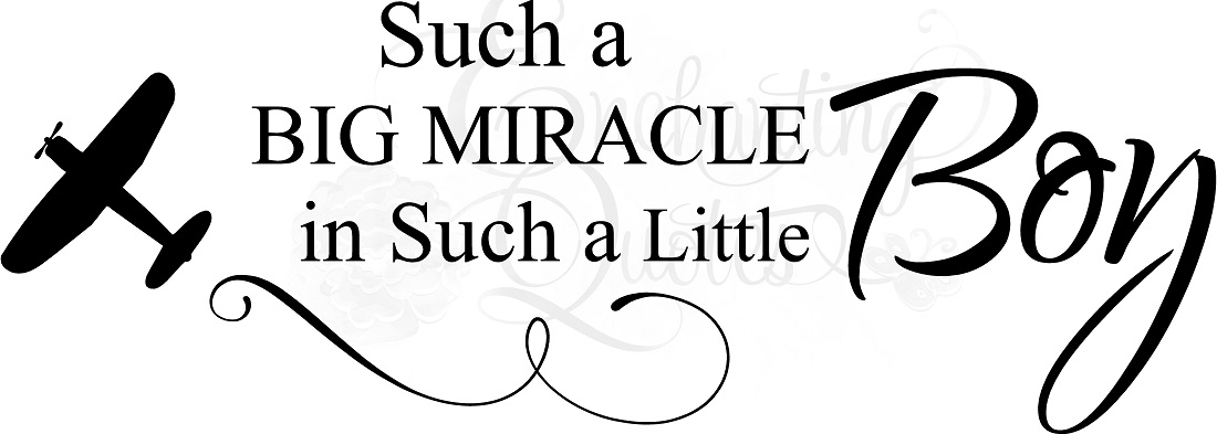 Vector Vinyl Ready To Cut Quotes Baby Boy Quotes Big Miracle