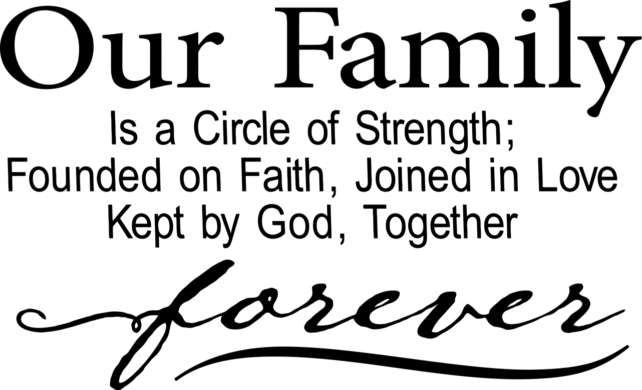 Quotes About Family Love Vinyl Ready Quote Our Family Is A Circle Of Love Digital File