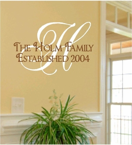 Family Quotes Vinyl Wall Decals Custom Wall Monograms - Custom vinyl wall decals sayings for family room