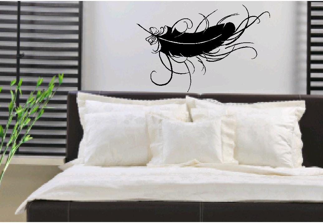 Feather Wall Art vinyl wall art - feather wall decals, wall stickers