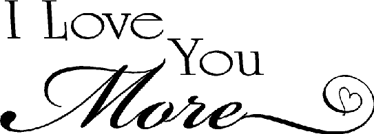 Love You More Quotes Pleasing Vinyl Wall Quotes  Quotes On Love  I Love You More Saying
