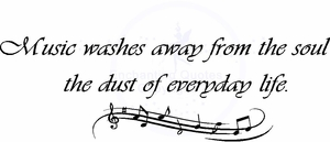 Wall Quotes - Music Washes Away