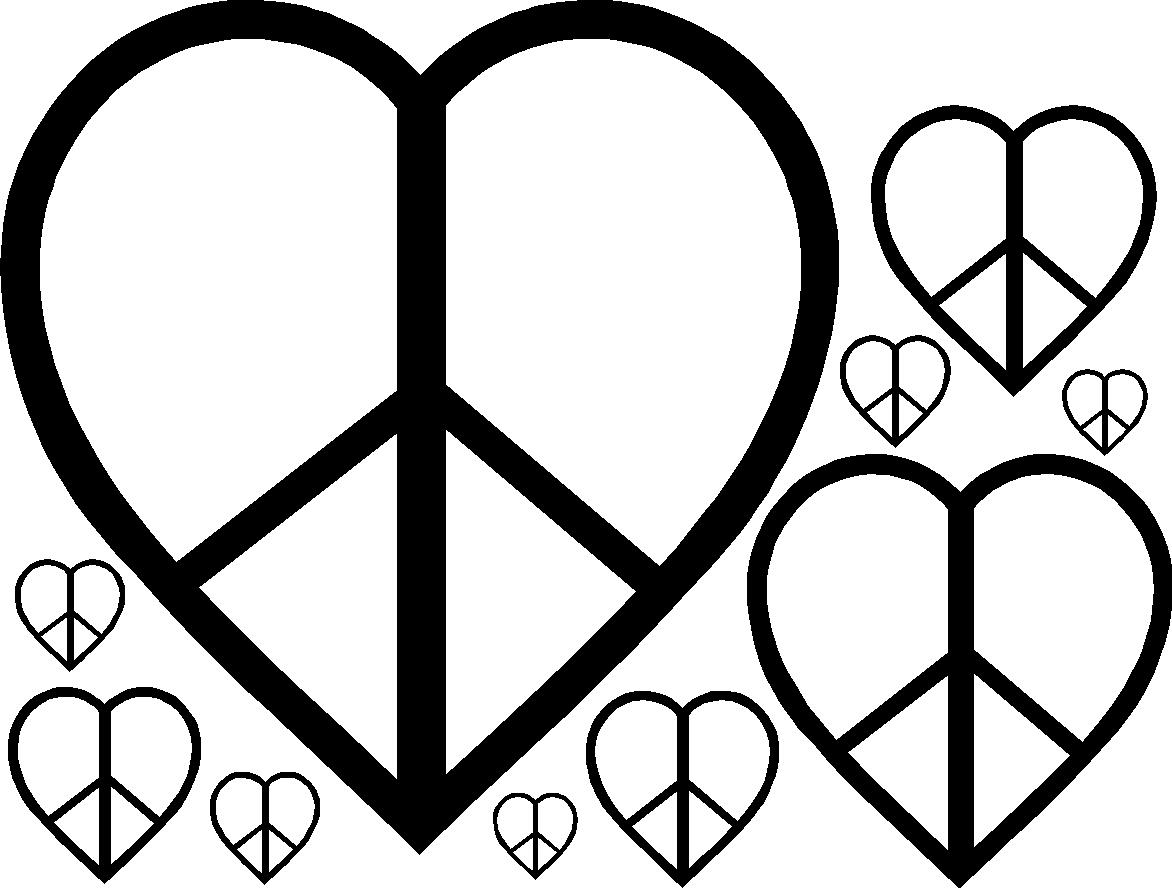Vinyl Wall Art Peace Heart Wall Decals Vinyl Wall Decals