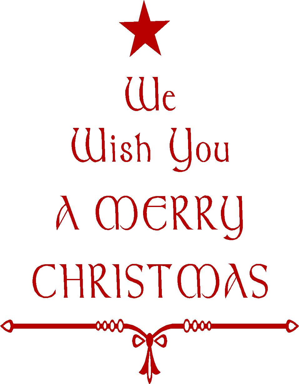 we wish you a merry christmas vinyl wall quote - We Wish You Merry Christmas