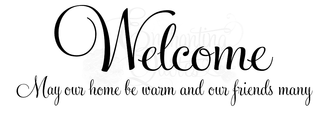 Welcome Wall Quotes Entryway Sayings Vinyl Lettering