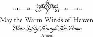 Winds of Heaven Wall Quote Decal