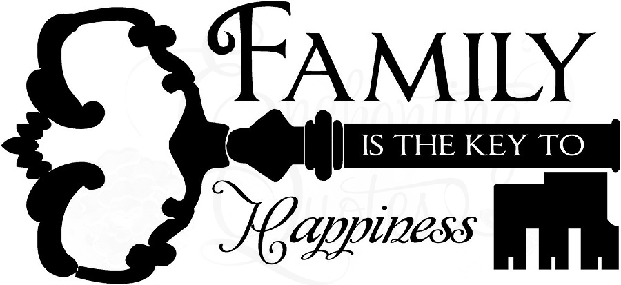 Family Quotes Vinyl Wall Decals Family Key To Happiness
