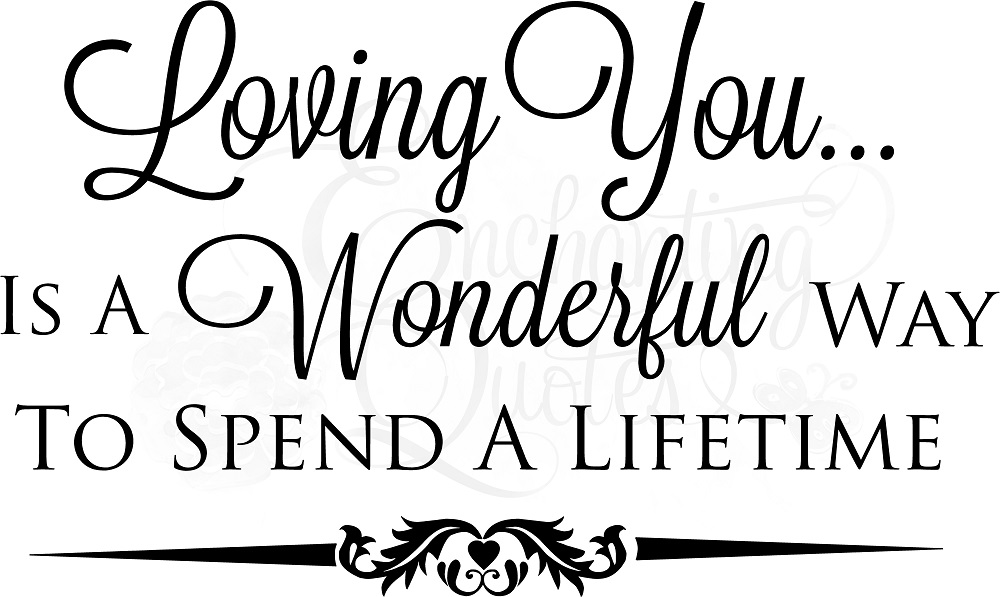Loving You Quotes Inspiration Bedroom Wall Quotes Love Quotes And Sayings On Love