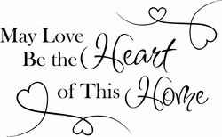 Heart of This Home Wall Quote