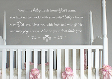 Wee Little Baby Nursery Wall Quote