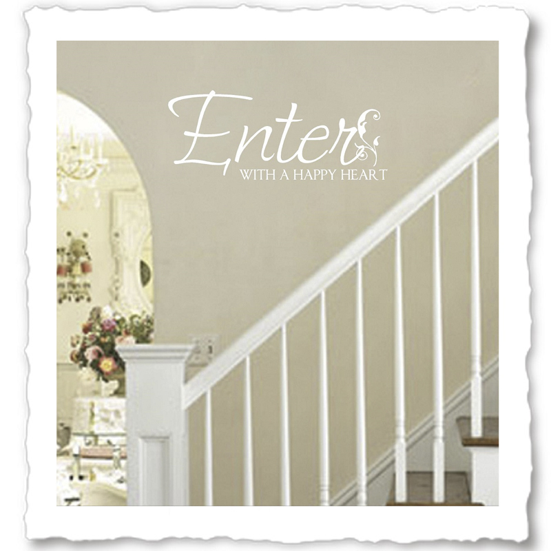 Foyer Colors Quotes : Welcome quotes vinyl wall for foyer entryway
