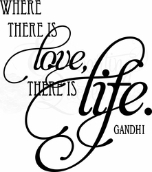 Where There is Love Wall Quote Decal