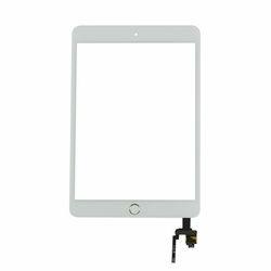 iPad Mini 3 Touch Screen with IC Chip and Home Button - White/Silver