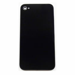 iPhone 4 Back Cover Glass Part with GSM Frame - Black