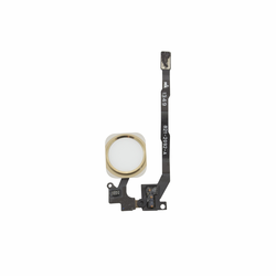 iPhone 5s Home Button & Flex Cable Assembly - White/Gold