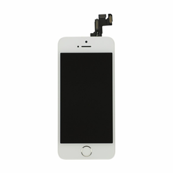 iPhone 5s LCD & Touch Screen Assembly with Small Parts - White/Silver