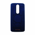 Motorola Droid Turbo 2 Back Battery Cover - Blue (Nylon)
