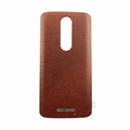 Motorola Droid Turbo 2 Back Battery Cover - Brown (Leather)