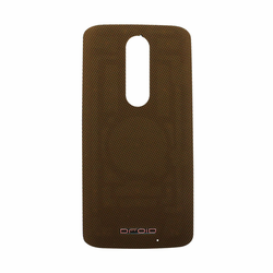 Motorola Droid Turbo 2 Back Battery Cover - Brown (Nylon)