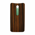 Motorola Moto X Pure Back Battery Cover Replacement - Ebony (Wood)