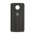 Motorola Moto Z Force Droid Back Cover - Charcoal Ash (Wood Style)