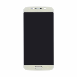 Samsung Galaxy S6 Edge (CDMA) LCD & Touch Screen with Frame - White