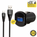 Scosche 12W Car Charger & 3 ft. Micro-USB Cable - Black