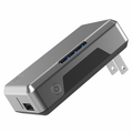 Scosche GoBat 3000 Portable Wall Charger & Backup Battery - Black/Space Gray