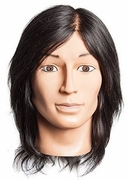 Aiden Male Mnnequin Head, no beard, 100% human hair