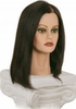 "Angel Deluxe Mannequin Head, 14"" Level 2, 100% Human Hair"