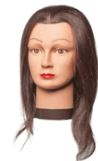 "Giselle Mannequin Head, 16"" human hair_only 4 left at this price"