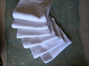 "White Cotton Salon Towels, 6 pack, 26"" x 16"""