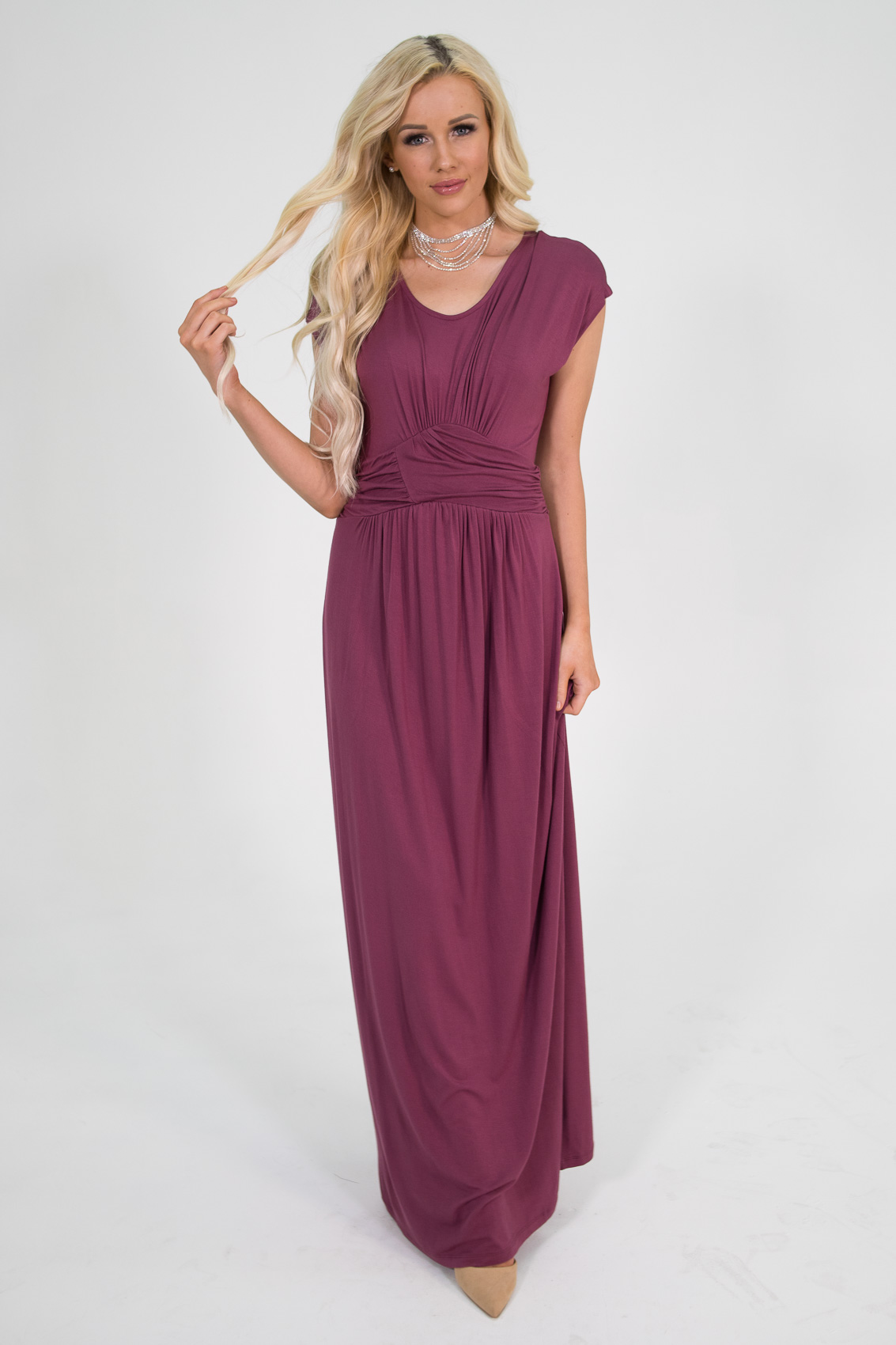 Modest bridesmaid dresses modest brides maid dresses modest athena modest maxi dress or bridesmaid dress in dark rose maroon ombrellifo Image collections