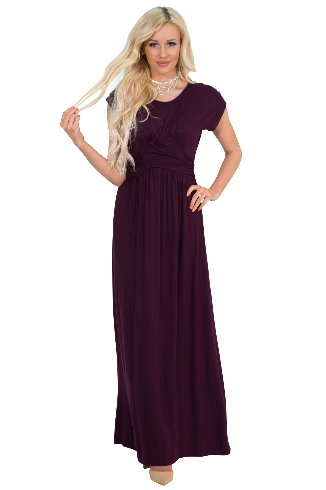 af4d0fbf906 ... Athena Modest Maxi Bridesmaid Dress in Deep Plum Purple (aka Burgundy  Plum)  RESTOCKED