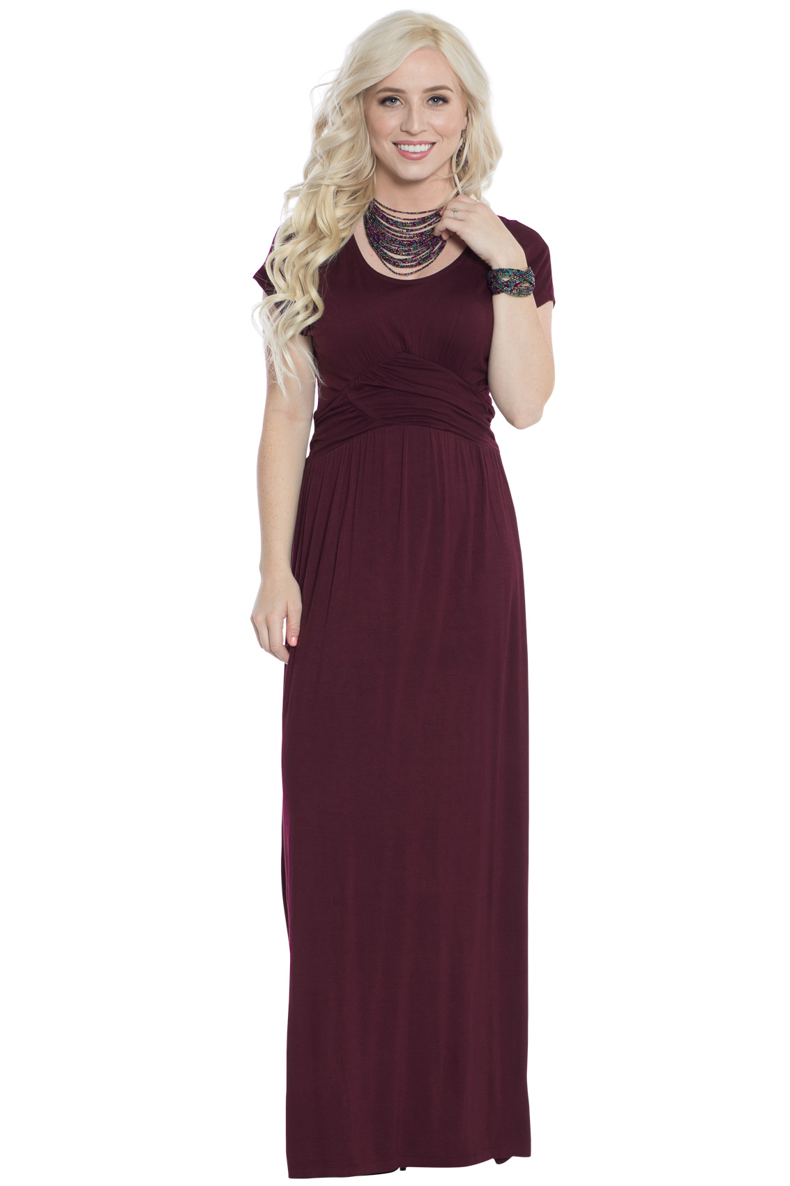 Athena modest maxi dress wruched empire waist in deep plum purple athena modest maxi or bridesmaid dress in deep plum purple or burgundy plum ombrellifo Gallery